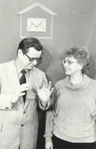 Bogdan Szczepankowski i Mirosława Sosnowska, tłuamcze telewizyjni języka migowego