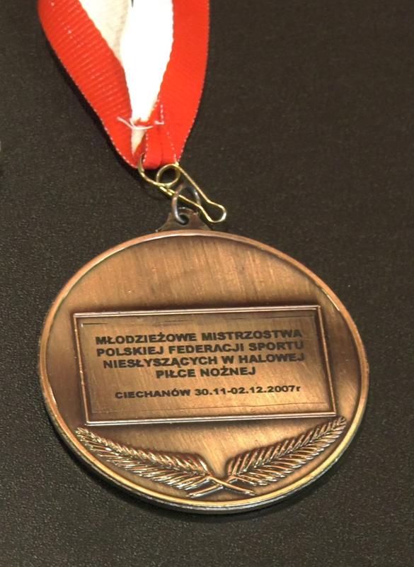 medal: Młodzieżowe mistrzostwa polskiej federacji sportu niesłyszących w halowej piłce nożnej