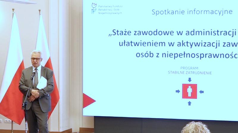 Staże zawodowe w administracji — Minister Krzysztof Michałkiewicz