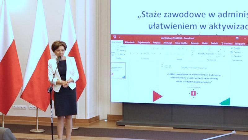 Wystąpienie Pani Marleny Maląg, prezes Zarządu PFRON