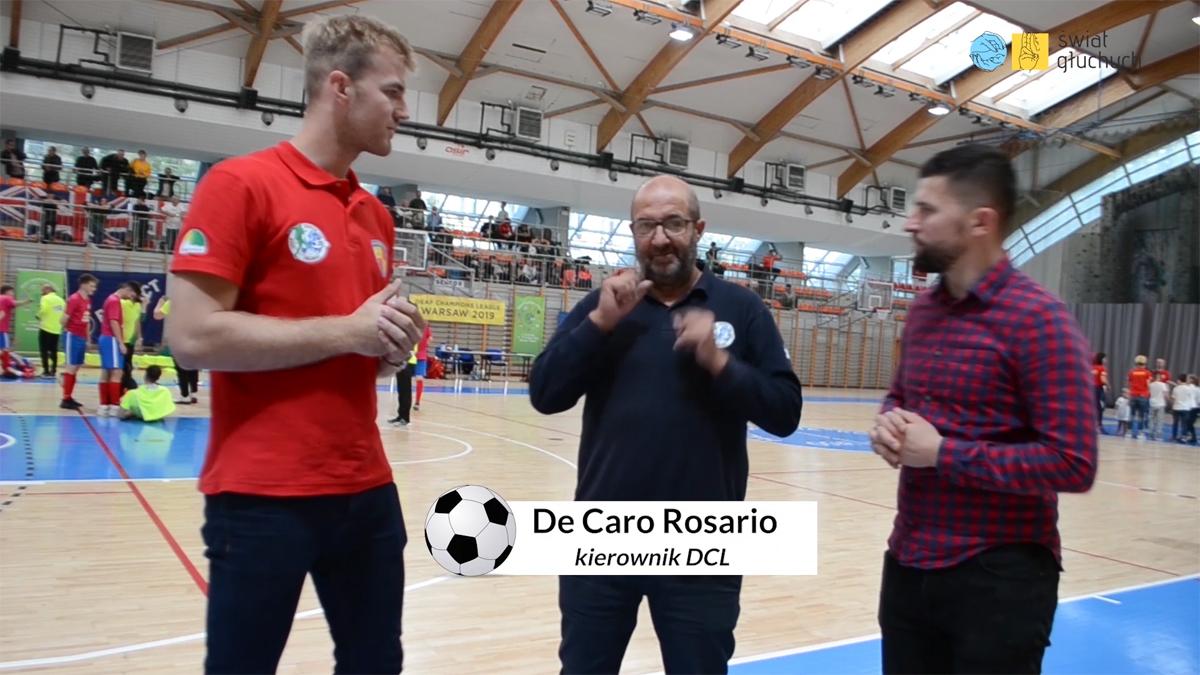 De Caro Rosario - kierownik DCL, Deaf Champions League — Liga Mistrzów Głuchych