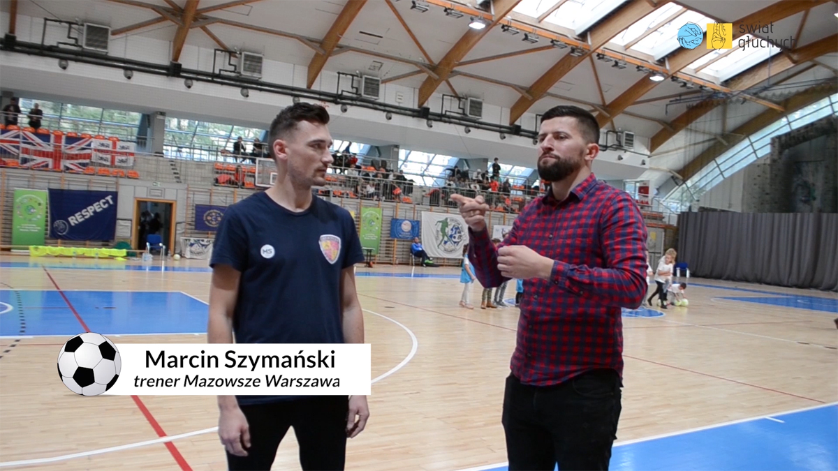 Deaf Champions League — Liga Mistrzów Głuchych, rozmowa z Marcinem Szymańskim, trenerem Mazowsze Warszawa
