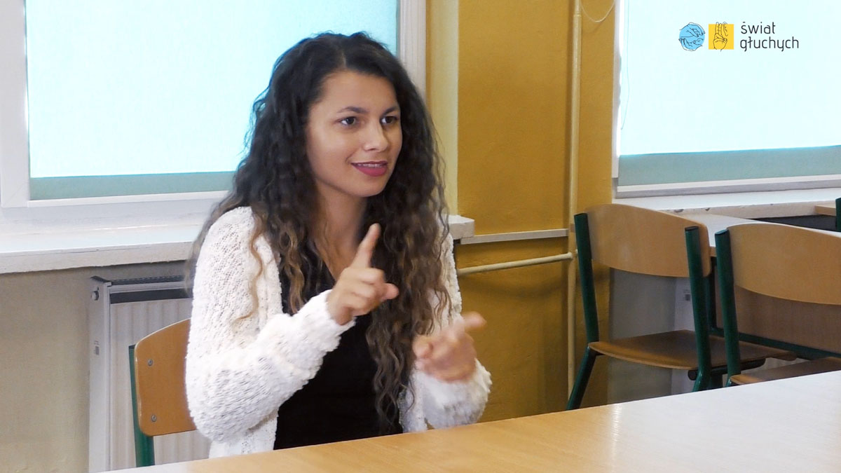 Joanna Huczyńska, absolwentka szkół dla głuchych