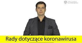 rady dotyczące koronawirusa w Polskim Języki Migowym
