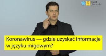 Koronawirus — gdzie uzyskać informacje w języku migowym