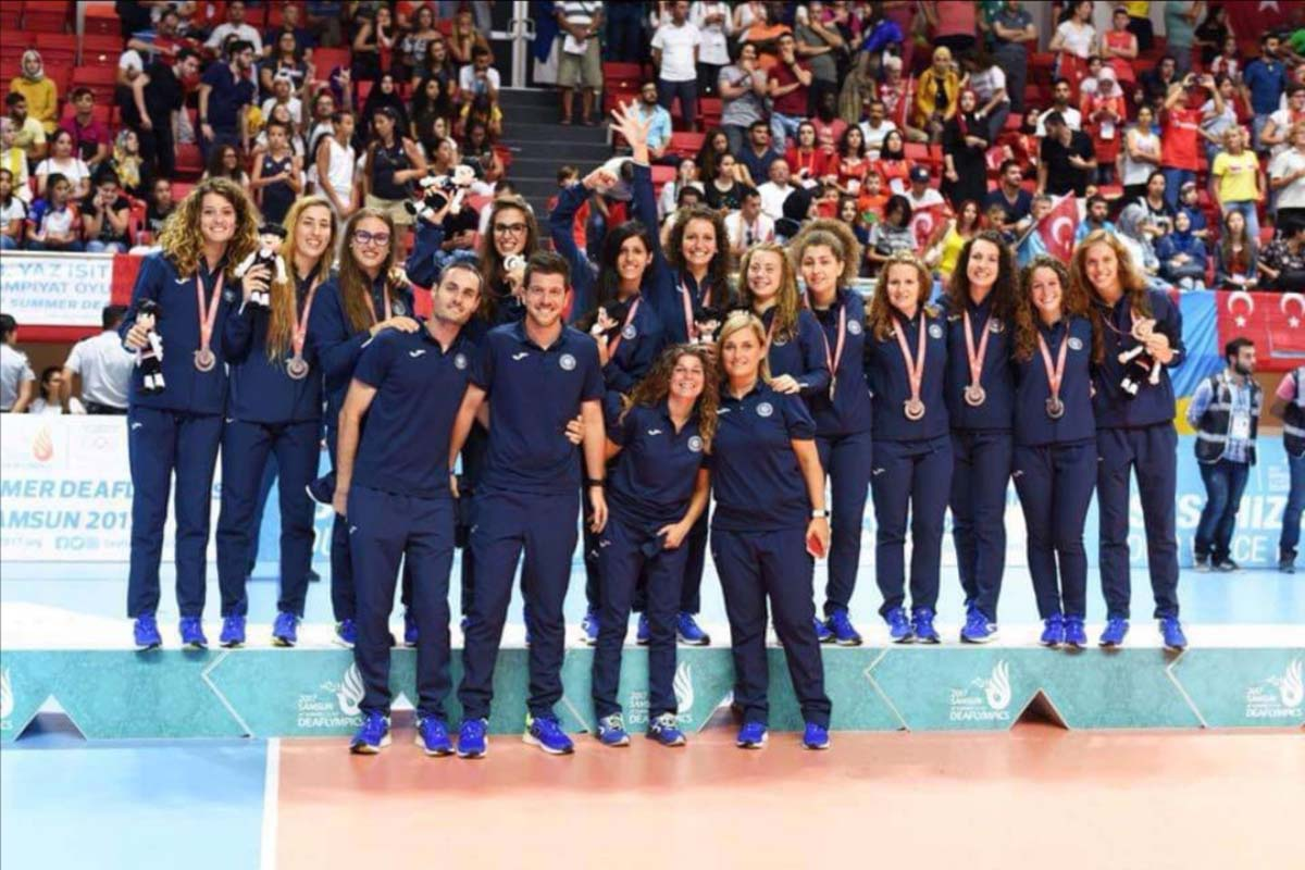 Olympic champion Ilaria Galbusera. Olimpiada głuchych, Turcja, Samsun 2017