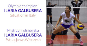 Olympic champion Ilaria Galbusera. Situation in Italy.