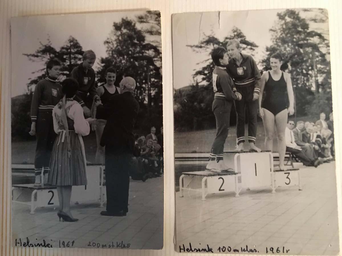 Józefa Muszyński-Czerwińska — 100 m i 200 m , 1961, IX Olimpiada Głuchoniemych, Helsinki, Finland,