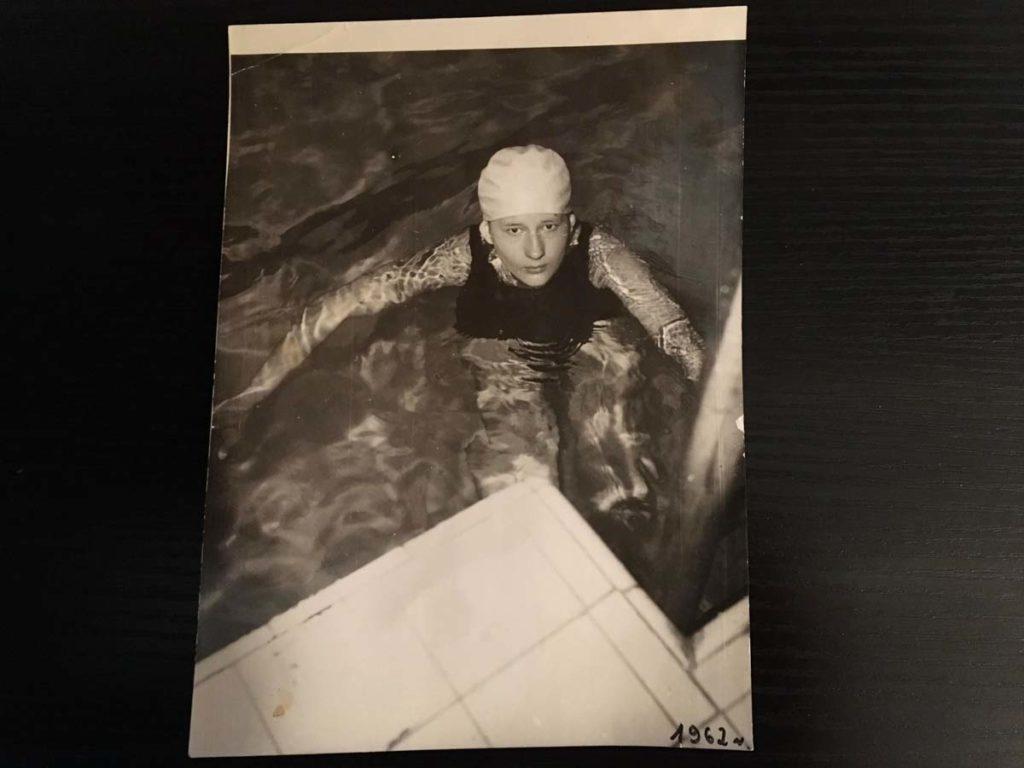 Józefa Muszyński-Czerwińska — na basenie