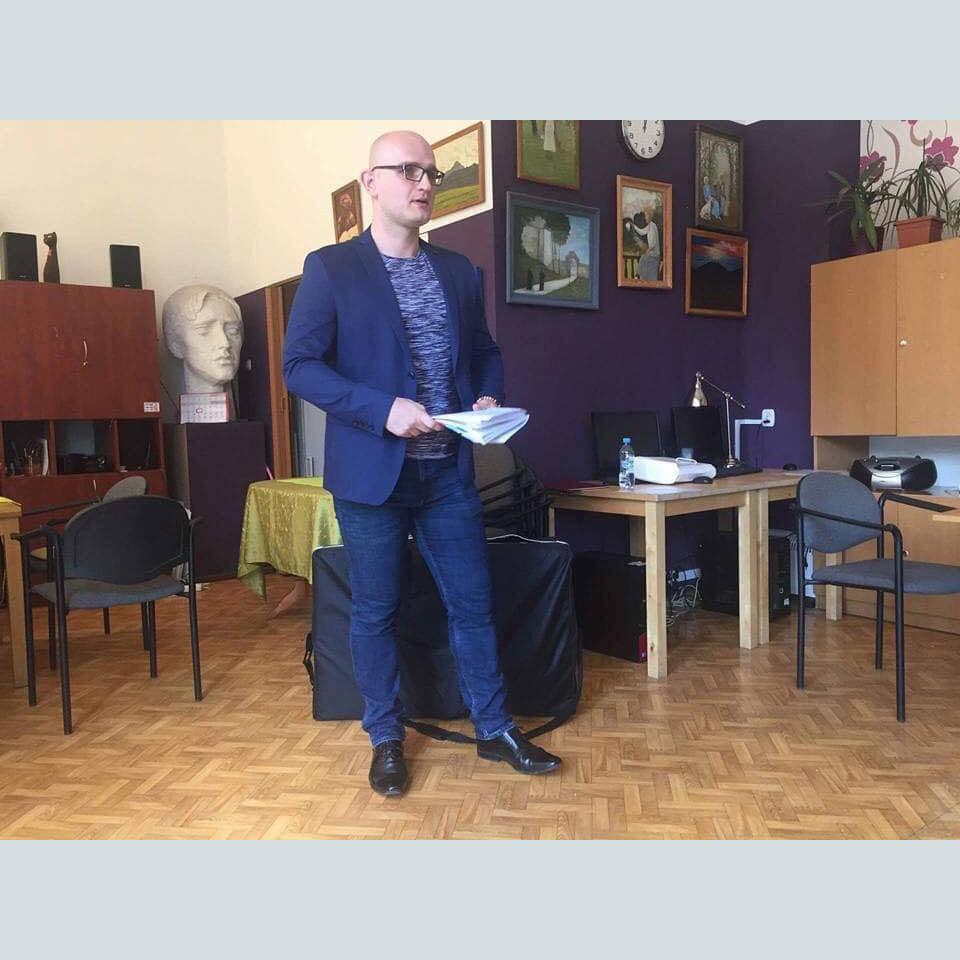 Głusi z pasją #7, Piotr Wróbel w czasie szkolenia