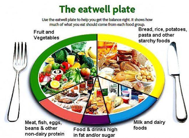 The eatwell plate, pramidy żywienia, Wielka Brytania