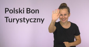 Polski Bon Turystyczny - wyjaśnienie w języku migowym