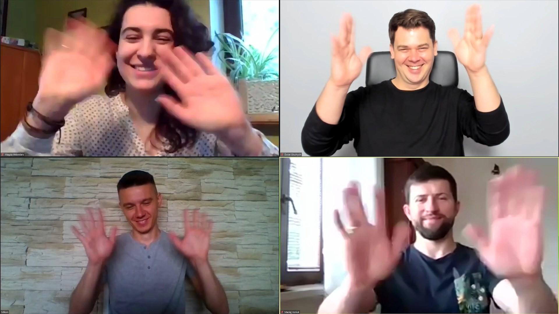 Magdlane Wdowiarz, Michał Konwerski, Maciej Joniuk, Tomasz Smakowski, Fundacja Świat Głuchych