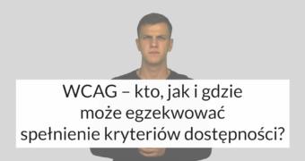 grafika: w tle tłumacz języka migowego, na pierwszym planie napis: