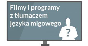 grafika: rysunek telewizora, a w nim po lewej stronie napis:
