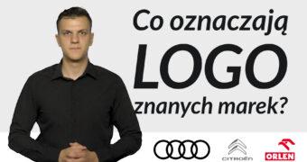 """Grafika: po lewej stronie tłumacz języka migowego Jakub Malik. Po prawej stronie napis: """"Co oznaczają logo znanych marek?"""" Poniżej logo trzech firm: Audi, PKN Orlen oraz Citroen."""