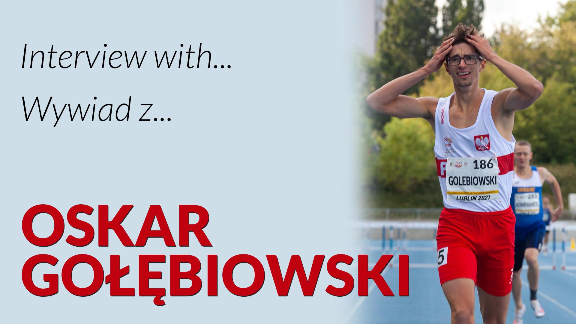 grafia z Oskarem Gołębiowskim, medalistą Mistrzostw Świata Głuchych w lekkoatletyce